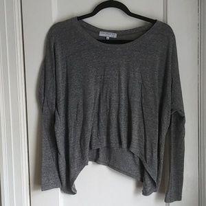 Daydreamer LA Grey Long Sleeve Top